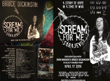 BRUCE DICKINSON 'Scream For Me Sarajevo' movie release