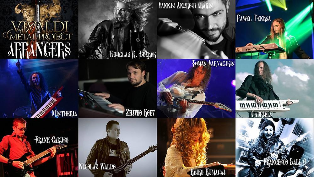 Vivaldi Metal Project arrangers