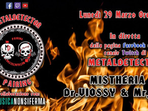 Live streaming interview with MetalDetector on March 29th, 2021