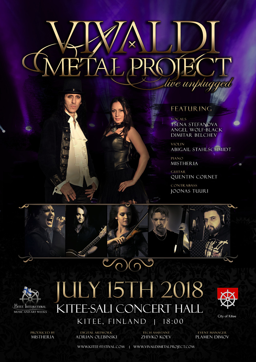 Vivaldi Metal Project Special Unplugged Show Live at Kitee International Music and Art Festival on July 15th 2018 Finland