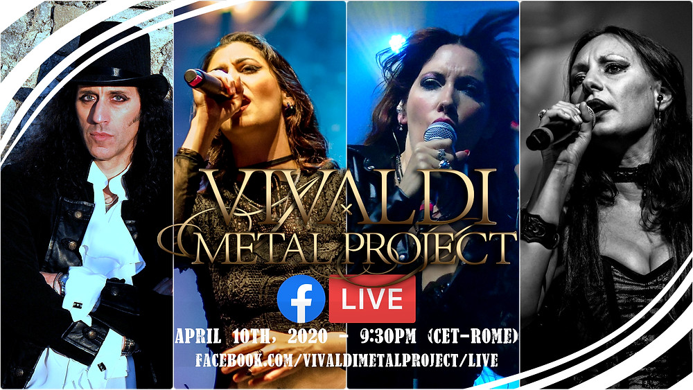 Vivaldi Metal Project facebook live streaming april 10th 2020