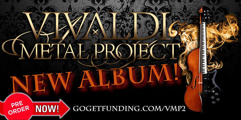 Vivaldi Metal Project crowd-funding campaign for the 2nd studio album on GoGetFunding