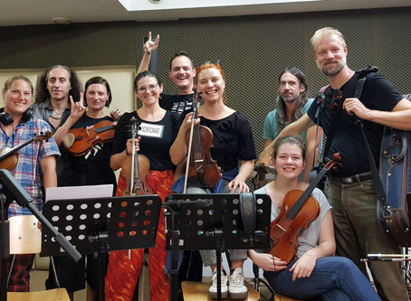 Strings recording session for our 2nd studio album with Zagrebacki Salonski Ansambl completed!