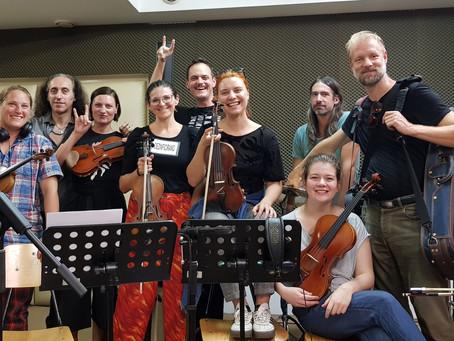 Strings recording session for our 2nd studio album with Zagrebacki Salonski Ansambl completed!