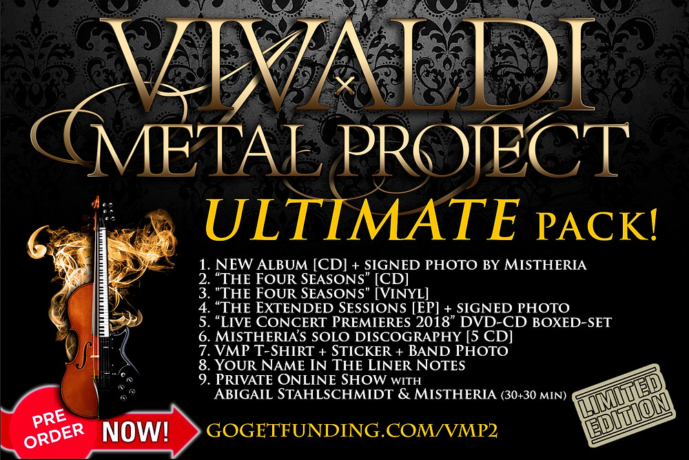 Vivaldi Metal project ULTIMATE package crowdfunding campaign on GoGetFunding