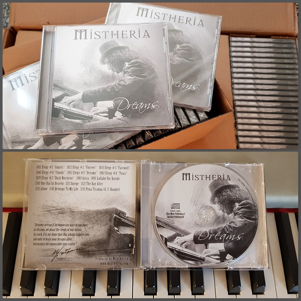 Mistheria - Dreams album physical copies (CD) now available
