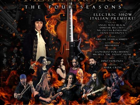 VIVALDI METAL PROJECT Electric Show ITALIAN PREMIERE at Teatro Dei Marsi in Avezzano on October 31,