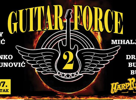 Guest at Guitar Force 2 at Hard Place in Zagreb, Croatia