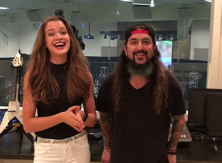 Mike Portnoy gives an interview to our violinist Abigail Stahlschmidt