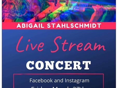 Violinist Abigail Stahlschmidt Live Stream Concert