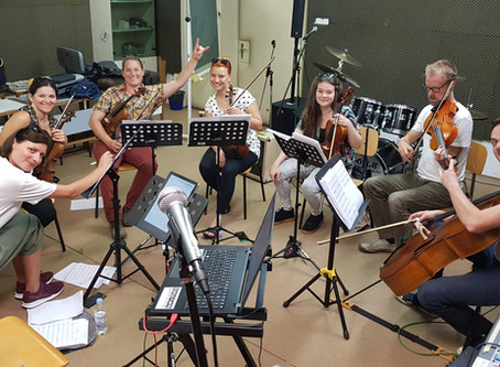 Rehearsals with Strings section of Zagrebacki Salonski Ansambl (Croatia)