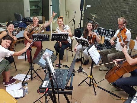 Rehearsals with Strings section of Zagrebacki Salonski Ansambl (Croatia)