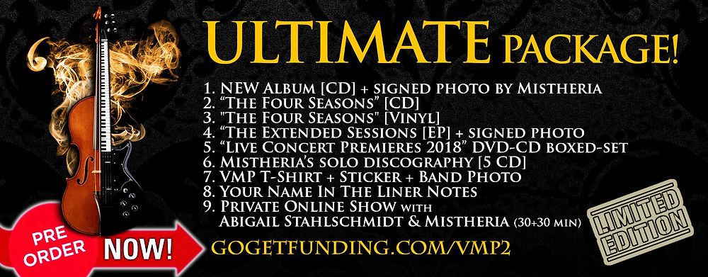 Vivaldi Metal Project - New album Ultimate package on GoGetFunding crowdfunding campaign