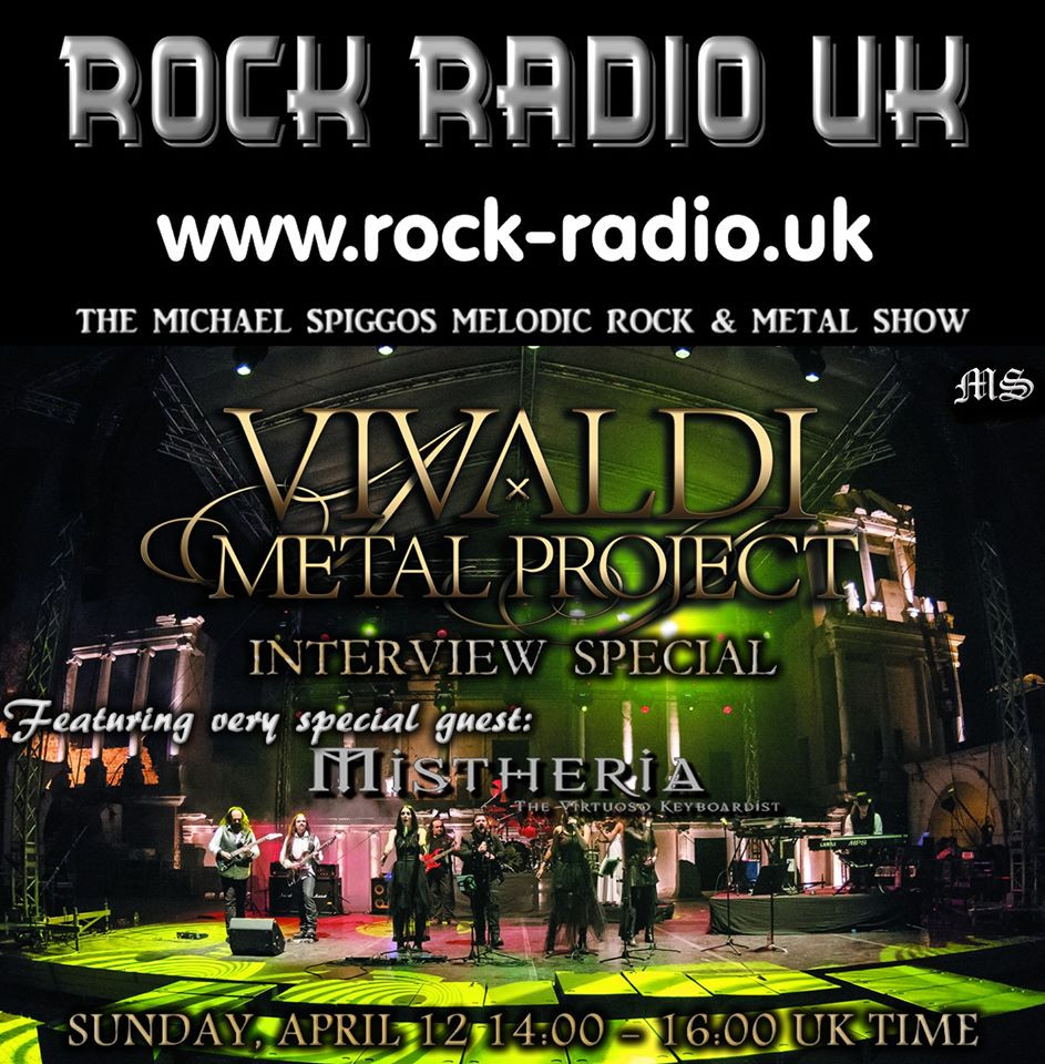 The Michael Spiggos Rock & Metal Radio Show interivew Mistheria Vivaldi Metal Project 2020-04-12