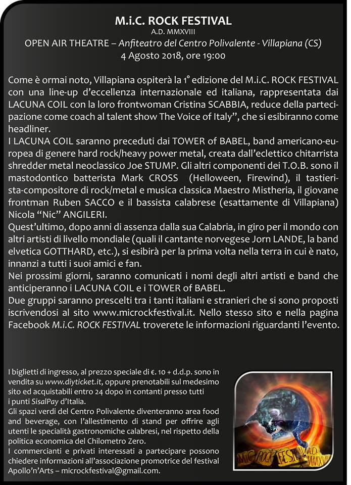 MICROCK Festival 2018 Press Release