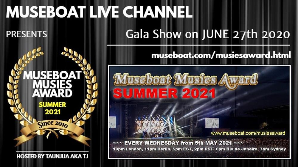 Museboat Musies Summer Award 2021 Vivaldi Metal Project nomination Grande Madre