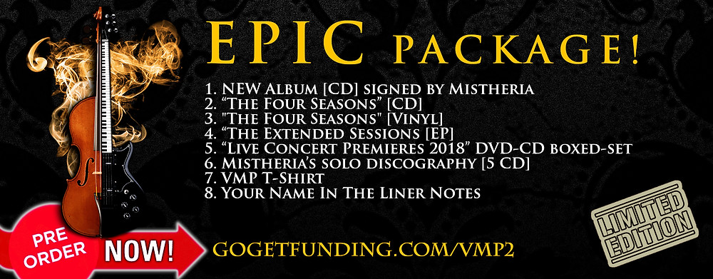 Vivaldi Metal Project - New album Epic package