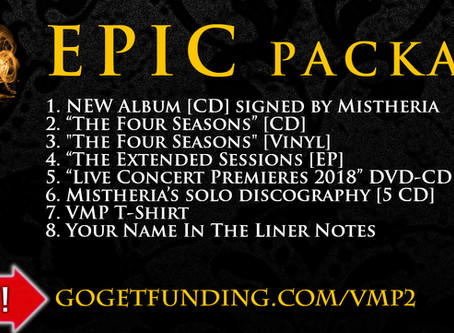 New Studio Album - EPIC package available in our crowdfunding campaign