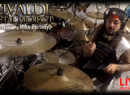 Mike Portnoy's drums playthrough live in the studio