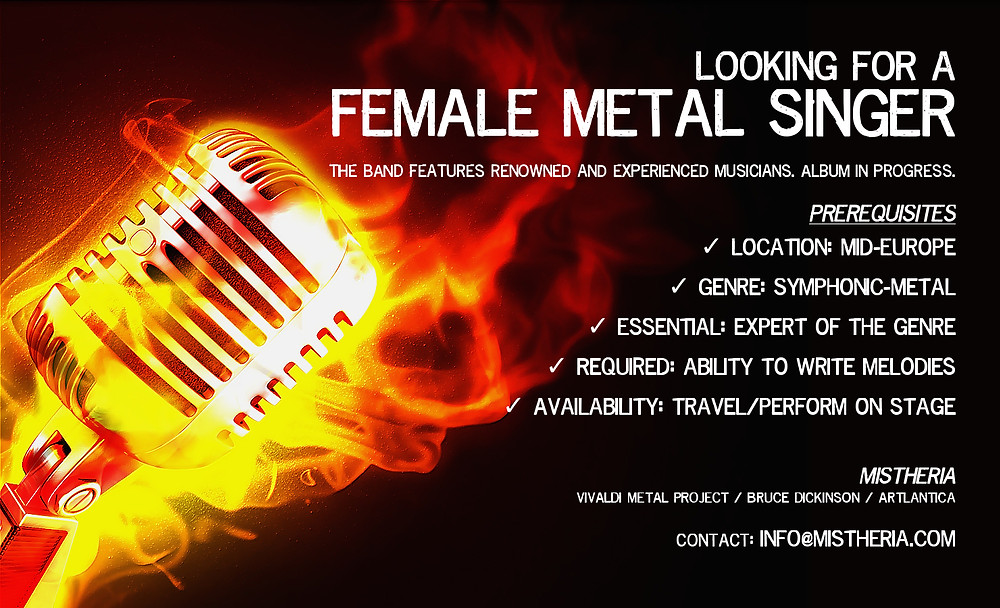 Looking for a FEMALE METAL SINGER