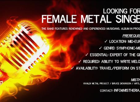 Looking for Female Metal Singer