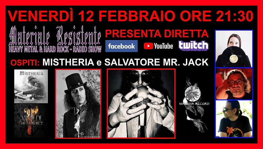Materiale Resistente live interview with Mistheria on February 12, 2021