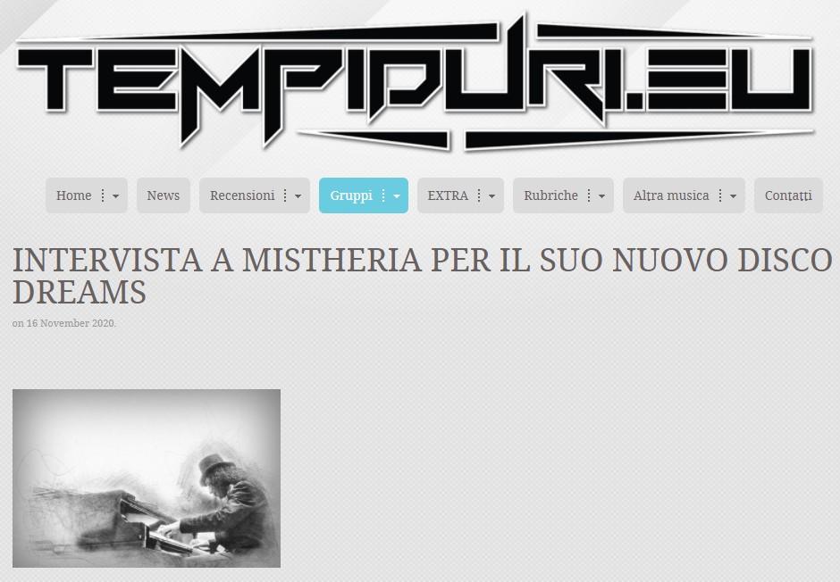 Mistheria intervista con Stefano Bonelli di Tempi Duri