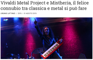 Interview for Media and Sipario about the Vivaldi Metal Project