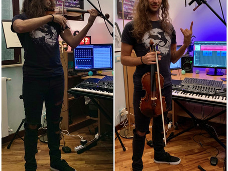 Violinist Gabriele Boschi completed the recording session
