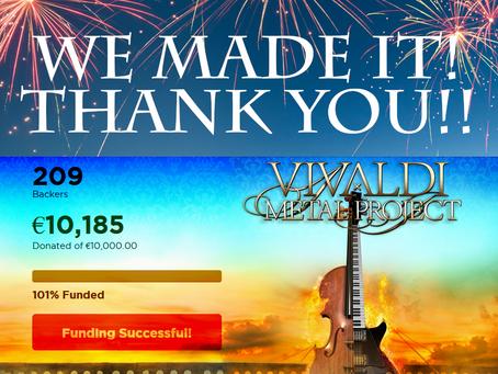 Vivaldi Metal Project - 'EpiClassica' album pre-order campaign successfully funded!