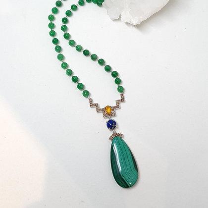 Malachite Drop Ascend Necklace