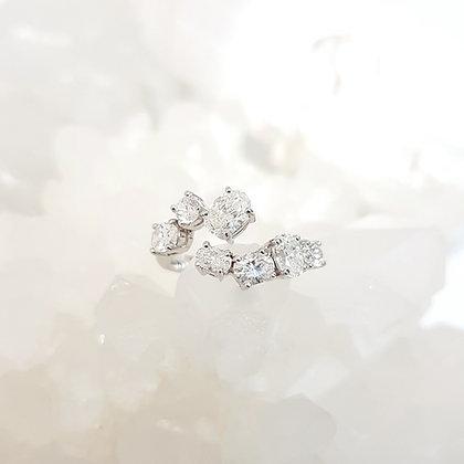 Open Oval Diamond Ring