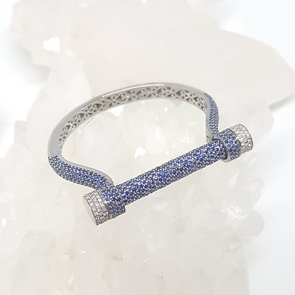 Blue Sapphire Bar Bangle