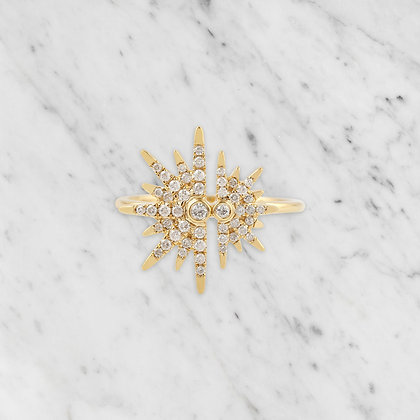 Yellow Gold Starburst Ring