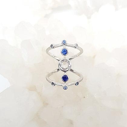 Geometric Sapphire Ring