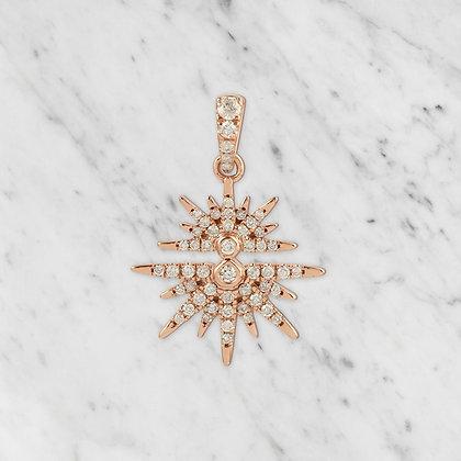 Pink Gold Starburst Pendant