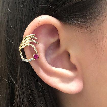 Skeleton Hand Ear Cuff