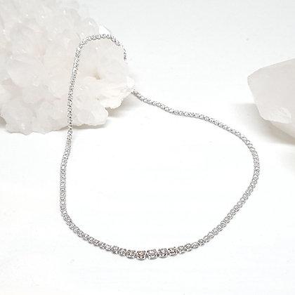 Graduated Diamond Tennis Necklace