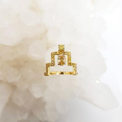 Oval Diamond Ascend Ring
