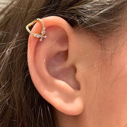 Yellow Gold Marquise Diamond Ear Cuff