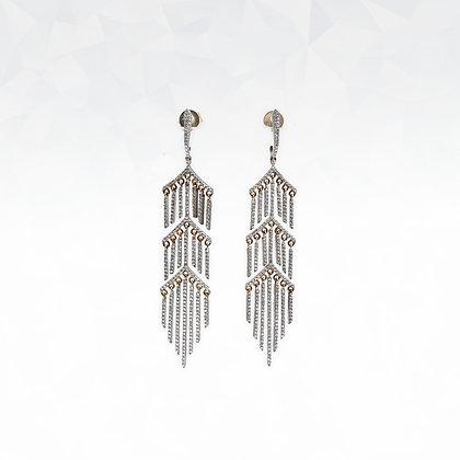 3 Layer Fringe Earrings