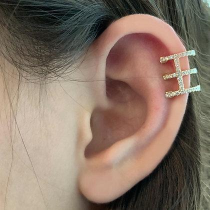 Three Layer Diamond Ear Cuff