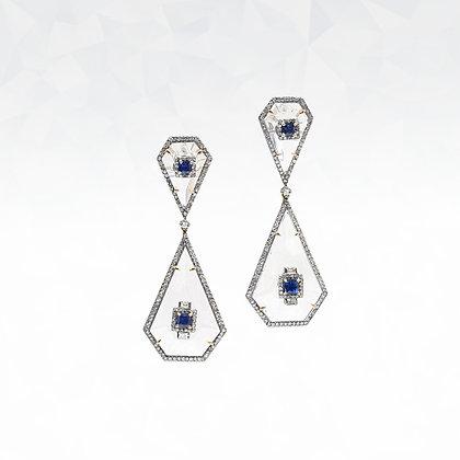 Rock Crystal Quartz Earrings