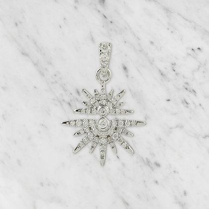 White Gold Starburst Pendant
