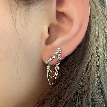Mini Bar Baguette Earrings