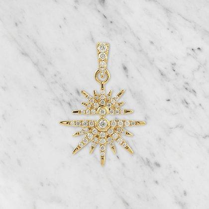 Yellow Gold Starburst Pendant