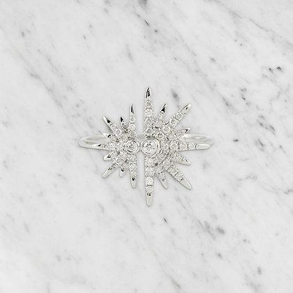 White Gold Starburst Ring