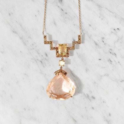 Peach Rutilated quartz Ascend Necklace