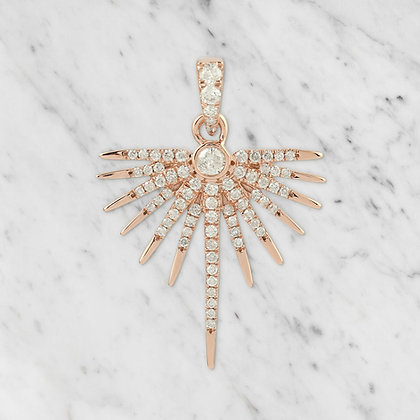 Pink Gold Half Starburst Pendant