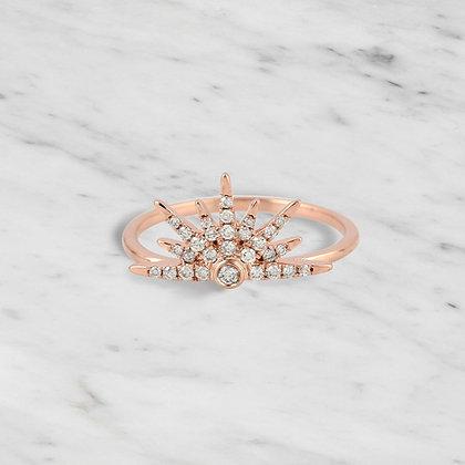 Pink Gold Half Starburst Ring